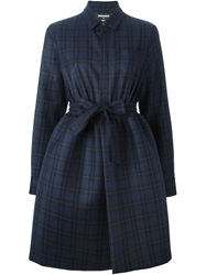 Dsquared2 Checked Shirt Dress Blue