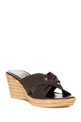 Italian Shoemakers Niurca Wedge Sandal Brown