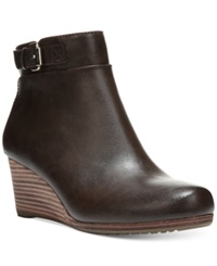 Dr. Scholl's Daina Wedge Booties Women's Shoes Brown