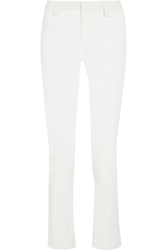 Haider Ackermann Patent Leather And Suede Straight Leg Pants