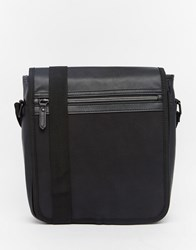 Asos Mini Messenger With Zip Flap Black