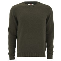 Fjall Raven Fjallraven Men's Ovik Crew Neck Jumper Dark Olive Green