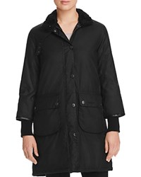 Barbour Faux Sherpa Trim Snow Mac Coat 100 Bloomingdale's Exclusive Black