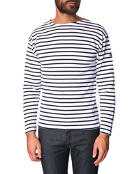 Armor Lux Mariner Shirt 1525 Striped Blue And White