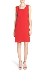 Petite Women's Pleione Beaded A Line Shift Dress Red
