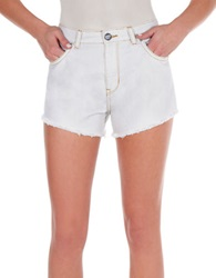 William Rast Frayed Denim Shorts Glacier