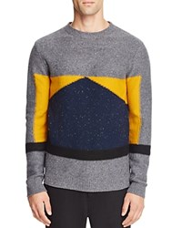 Native Youth Barometer Color Block Sweater Gray