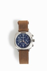 Briston Watches Timeless Chrono Leather Watch Brown