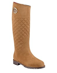 Tommy Hilfiger Babette Quilted Rain Boots Tan