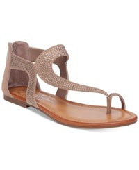 Jessica Simpson Kaarna Toe Loop Flat Sandals Women's Shoes Totally Taupe