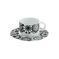 Missoni Home Bianconero Teacup And Saucer Set Of 2