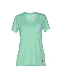 Red Soul Topwear T Shirts Women Light Green