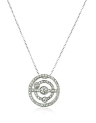 Incanto Royale 0.42 Ctw Diamond 18K Gold Charm Necklace White