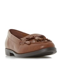 Head Over Heels Gwenie Bow Fringe Loafers Tan