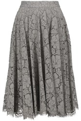 Dolce And Gabbana Corded Lace Skirt Gray Green