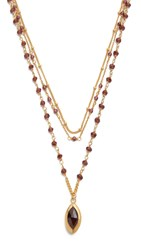 Chan Luu Garnet Layered Necklace Garnet Mix