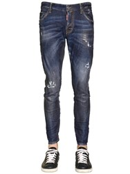 Dsquared 16Cm Sexy Twist Waxed Stretch Jeans