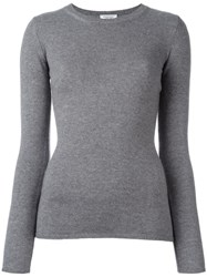 Fashion Clinic Ribbed Crew Neck Jumper Grey