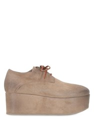 Marsell 70Mm Suede Lace Up Derby Platform Shoes