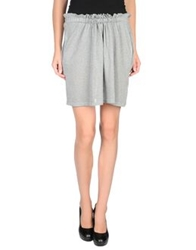 M.Grifoni Denim Mini Skirts Grey