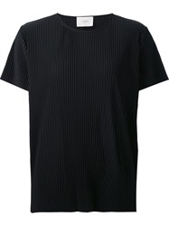 Just Female Round Neck Ribbed T Shirt Black