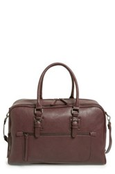 Sole Society 'Bronson' Faux Leather Weekend Bag Purple