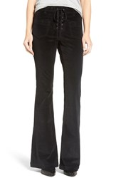 Sun And Shadow Women's Lace Up Flare Corduroy Pants