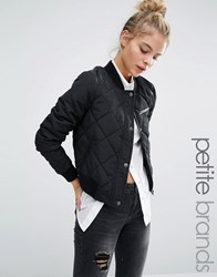 Noisy May Petite Quilted Bomber Jacket Black