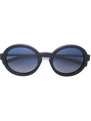 Jil Sander Matte Oval Sunglasses Blue