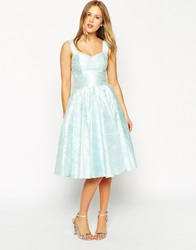 Asos Salon Floral Jacquard Sweetheart Neck Prom Dress Mint