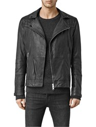 Allsaints Kushiro Leather Biker Jacket Black