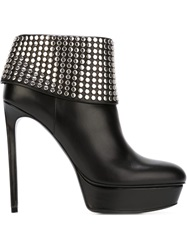 Saint Laurent Studded Platform Boots Black
