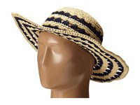 Kate Spade Crochet Crushable Sun Hat Natural Navy Traditional Hats Neutral