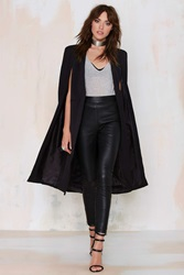 Nasty Gal On The Fly Cape Jacket