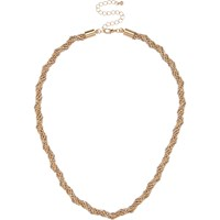 River Island Womens Gold Tone Faceted Chain Necklace