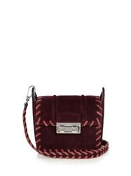 Lanvin Jiji Mini Suede Cross Body Bag Burgundy