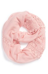 Women's Hinge Lace Trimmed Infinity Scarf