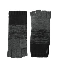 Calvin Klein Marled Color Block Fingerless Glove Black Charcoal Grey Extreme Cold Weather Gloves