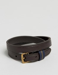 Polo Ralph Lauren Leather Wraparound Bracelet Brown Black