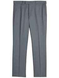 Jaeger Wool Twill Regular Fit Suit Trousers Grey