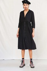 Urban Renewal Remade Linen Button Down Babydoll Dress Black