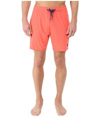 Sperry Invisible Critter Solids Volley Shorts Orange Pop Men's Swimwear