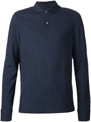Capobianco Long Sleeve Polo Shirt Blue
