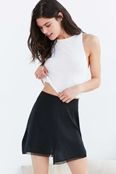 Out From Under Slit Skirt Slip Black