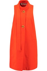 Marni Cotton Crepe Vest Bright Orange