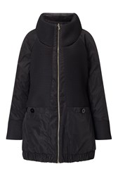 James Lakeland Reversible Puffer Coat Black