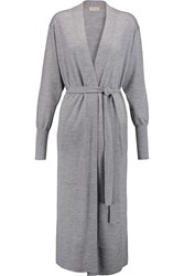 Temperley London Cashmere Knit Cardigan Gray