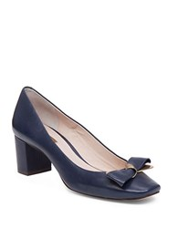 Louise Et Cie Lilla Square Toe Pumps Navy Blue