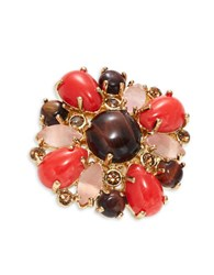 Kate Spade Burst Into Bloom Floral Statement Ring Multi