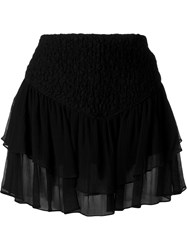 Jay Ahr Tiered Mini Skirt Black